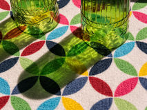 Kitchen glasses drying Stock Image
