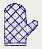 Kitchen glove. Doodle style Royalty Free Stock Image