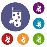 Kitchen glove icons set Royalty Free Stock Image