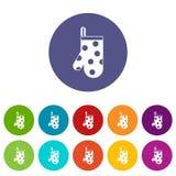 Kitchen glove set icons Royalty Free Stock Photo