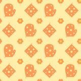 Kitchen gloves cute seamless pattern Stock Image