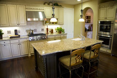 Kitchen with granite Stock Images