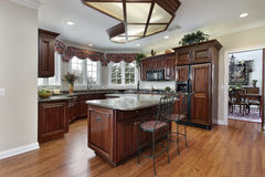 Kitchen with granite counters Stock Photos