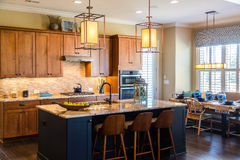 Kitchen with Granite and Modern Fixtures Royalty Free Stock Photo