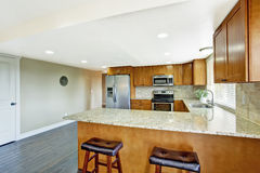 KItchen with granite tops Stock Photography