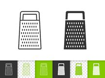 Kitchen Grater simple black line vector icon royalty free illustration