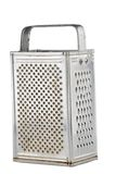 Kitchen grater isolated. Kitchen grater made of steel isolated on white Stock Photography