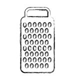 Kitchen grater isolated icon Royalty Free Stock Images