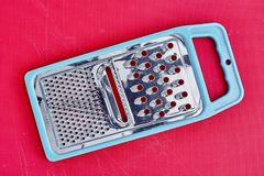 Kitchen Grater. A studio photo of a kitchen grater royalty free stock photos