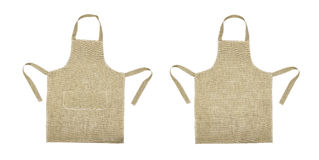 Kitchen gray apron. Front and back view Royalty Free Stock Images
