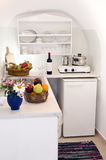 kitchen greek island villa apartment Stock Photos