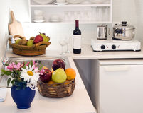 Kitchen greek island villa apartment Royalty Free Stock Photography