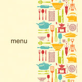 Kitchen grunge background with place for text Stock Images