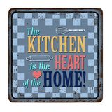 The kitchen is the heart of the home vintage rusty metal sign Royalty Free Stock Photography