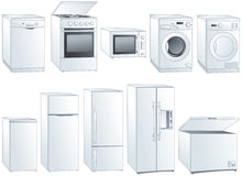 Home appliances illustrations set Royalty Free Stock Photo