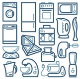 Kitchen home appliances. Stock Photo