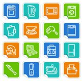 Kitchen home appliances on stickers Royalty Free Stock Photo