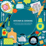 Kitchen home cooking concept poster Stock Photography
