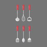 Kitchen home culinary equipment flat vector illustration. Stock Photos