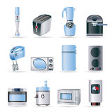 Kitchen and home equipment icons Stock Photo