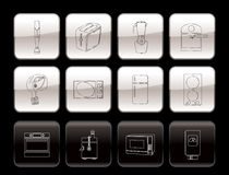 Kitchen and home equipment icons Royalty Free Stock Image