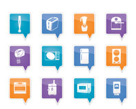 Kitchen and home equipment icons Royalty Free Stock Photos