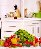 Kitchen home interior Stock Images