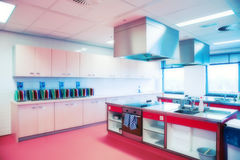 Kitchen in HoReCa college Royalty Free Stock Images