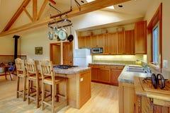 Kitchen, horse ranch. Royalty Free Stock Photo