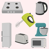 Kitchen and house appliances. Vector illustration Stock Photos