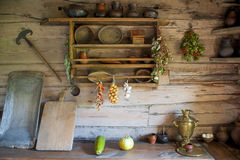 Kitchen in the house of a poor peasant Royalty Free Stock Photography