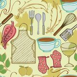 Kitchen Household Objects 2. Vector of Kitchen Household Objects made as seamless pattern Royalty Free Stock Photo