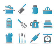 Kitchen and household Utensil Icons Royalty Free Stock Photos