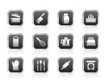Kitchen and household Utensil Icons Stock Photos