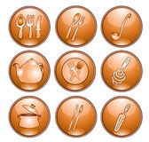 Kitchen icon Royalty Free Stock Photos