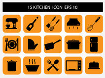 Kitchen icon. Of computer and web design Royalty Free Stock Photography