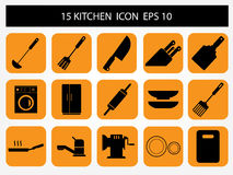 Kitchen icon Stock Images