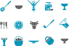 Kitchen Icon Set Royalty Free Stock Photos