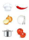 Kitchen, icon set Stock Photo
