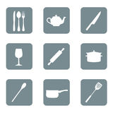 Kitchen icon set art vector Royalty Free Stock Images