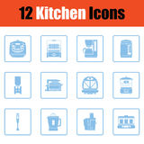 Kitchen icon set Stock Images