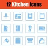 Kitchen icon set Royalty Free Stock Photo