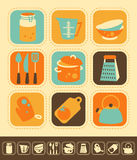 Kitchen Icon Set Stock Image