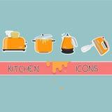 Kitchen icon set Royalty Free Stock Photography