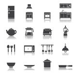 Kitchen icon set Stock Photography