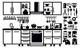 Kitchen icon Stock Photography