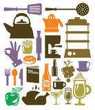 Kitchen icon Stock Photos