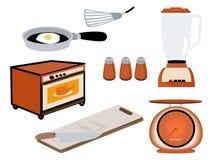 Kitchen Icons Stock Image