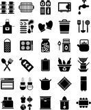 Kitchen icons. This is a collection of different kitchen icons stock illustration