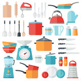 Kitchen Icons - Flat Design Stock Images